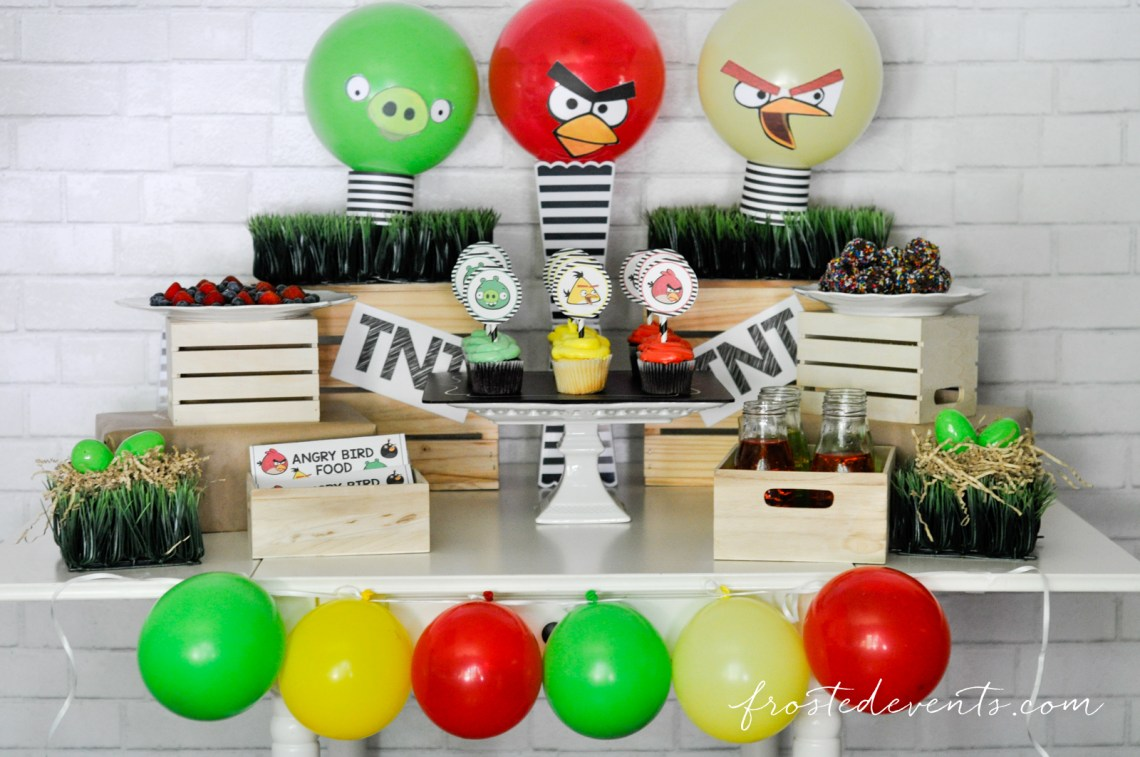 Angry birds party free printables for Angry bird decoration ideas