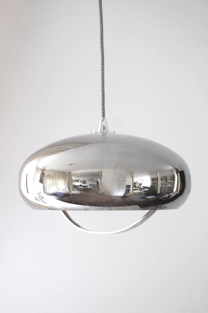 Metalen Fitting Chrome Space Age Hanglamp - Froufrou's