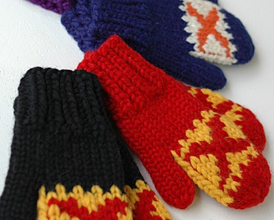 Granted Clothing Retro Hockey Mittens
