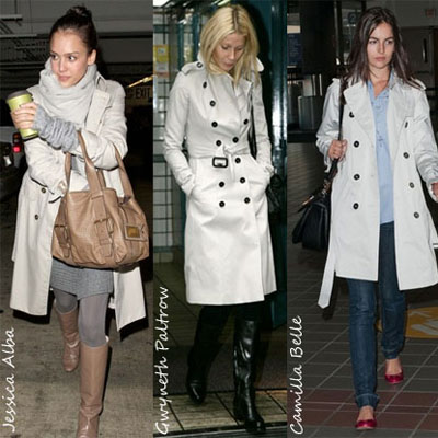 Celebs In Burberry Trench Coats