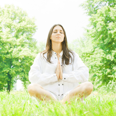 yoga woman meditation pose - dreamstime