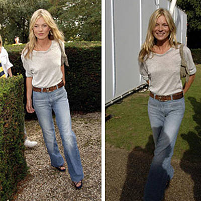 Kate Moss in vingage Chloe Jeans