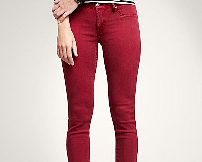 Red Jean Leggings From The Gap