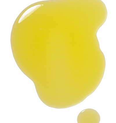 Puddle of olive oil