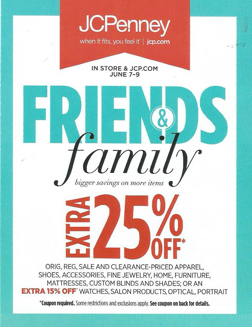 Jcpenney Friends And Family Event Huge Sale Save An Extra 25 Frugal Finds During Naptime