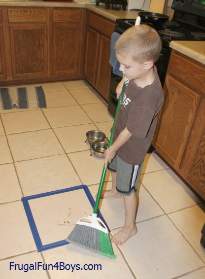 Teaching Kids To Sweep The Floor Frugal Fun For Boys And