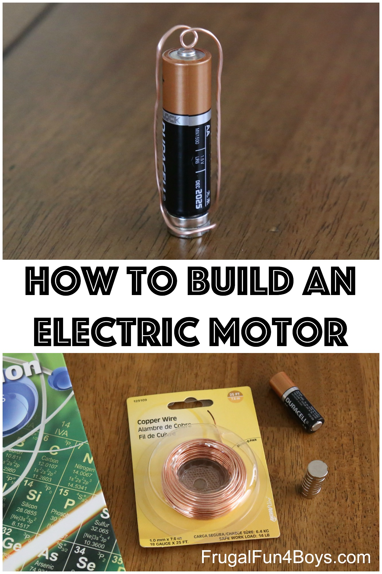 Electric Motor Diagram For Kids Build A Simple Electric Motor Homopolar Motor