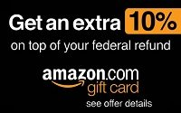Amazon.com Gift Card Federal Refund Bonus Offer