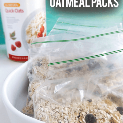 Homemade Oatmeal Packets