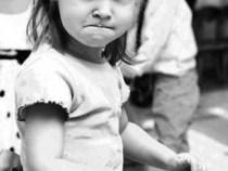 scowling girl
