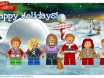 LEGO minifigure family photo