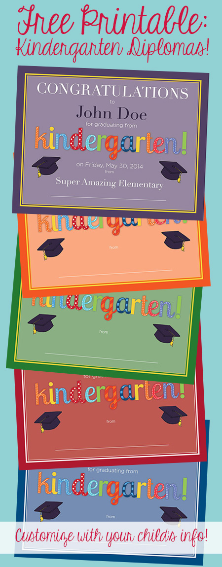 Kindergarten Diploma \u2013 Free Printable! \u2013 Frugal Novice