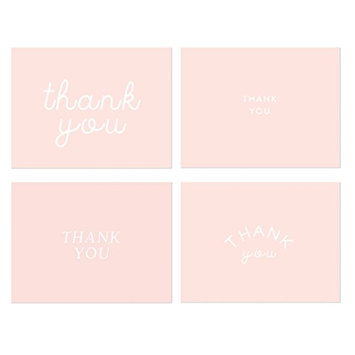 Pink Thank You Note Cards, Stylish Thank You Cards Perfect for Baby
