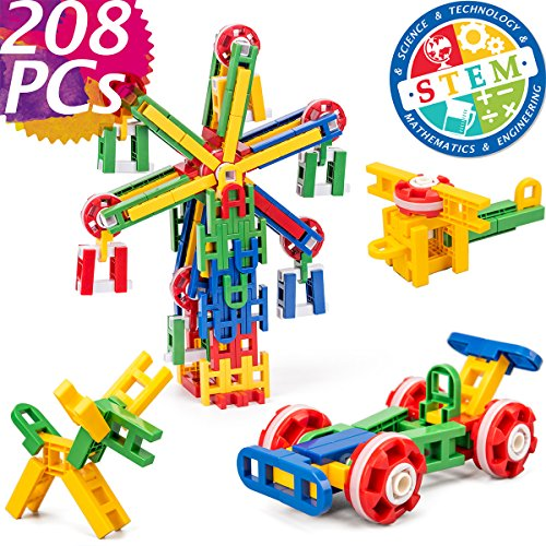 cossy STEM Learning Toy Engineering Construction Building Blocks 208