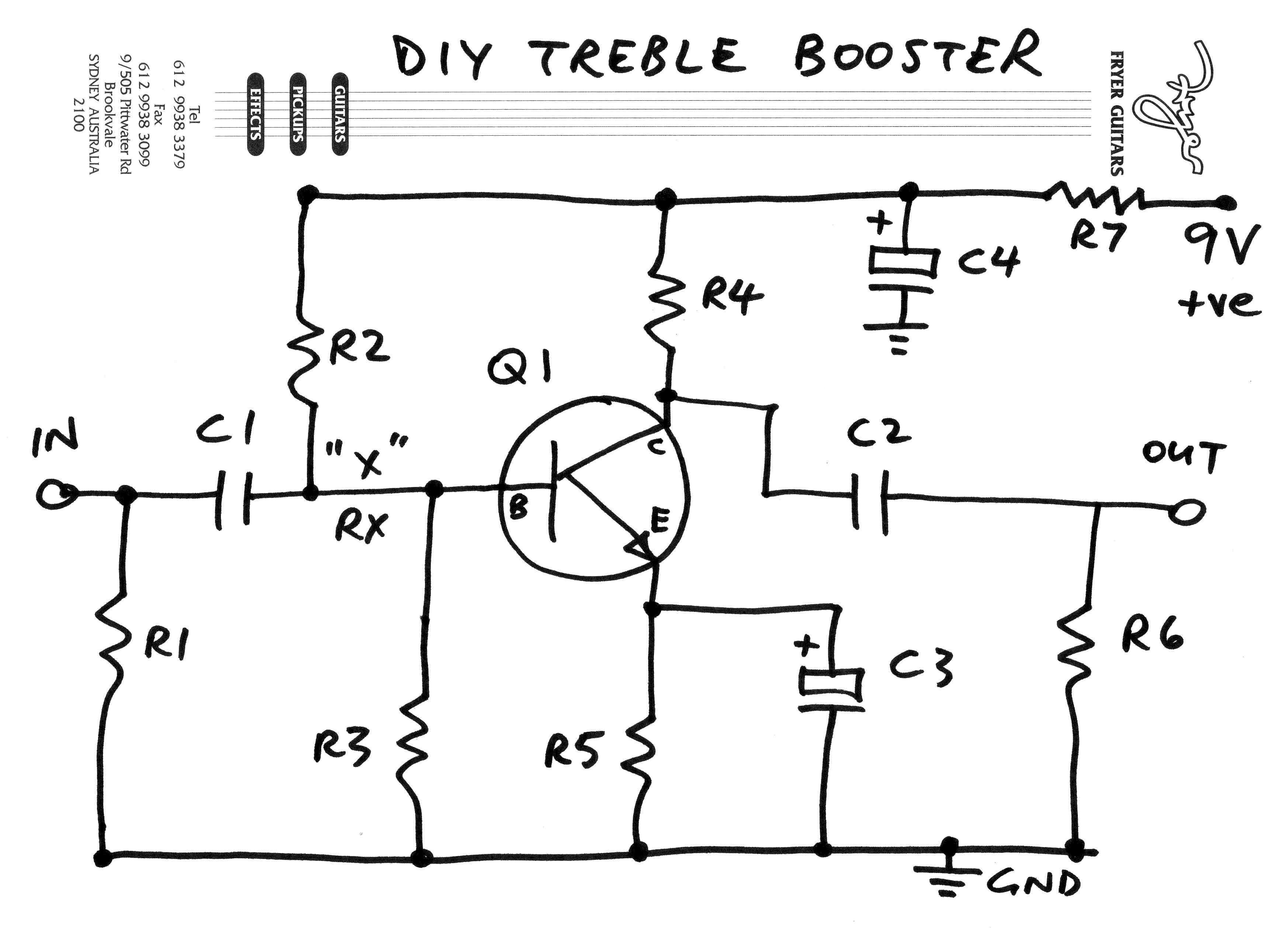 treble booster schematic