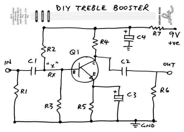 treble boost up using lm741 circuit wiring diagrams