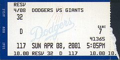 San Francisco Giants at Los Angeles Dodgers - ...