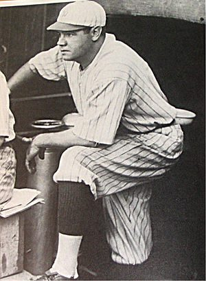 Baseball player Babe Ruth