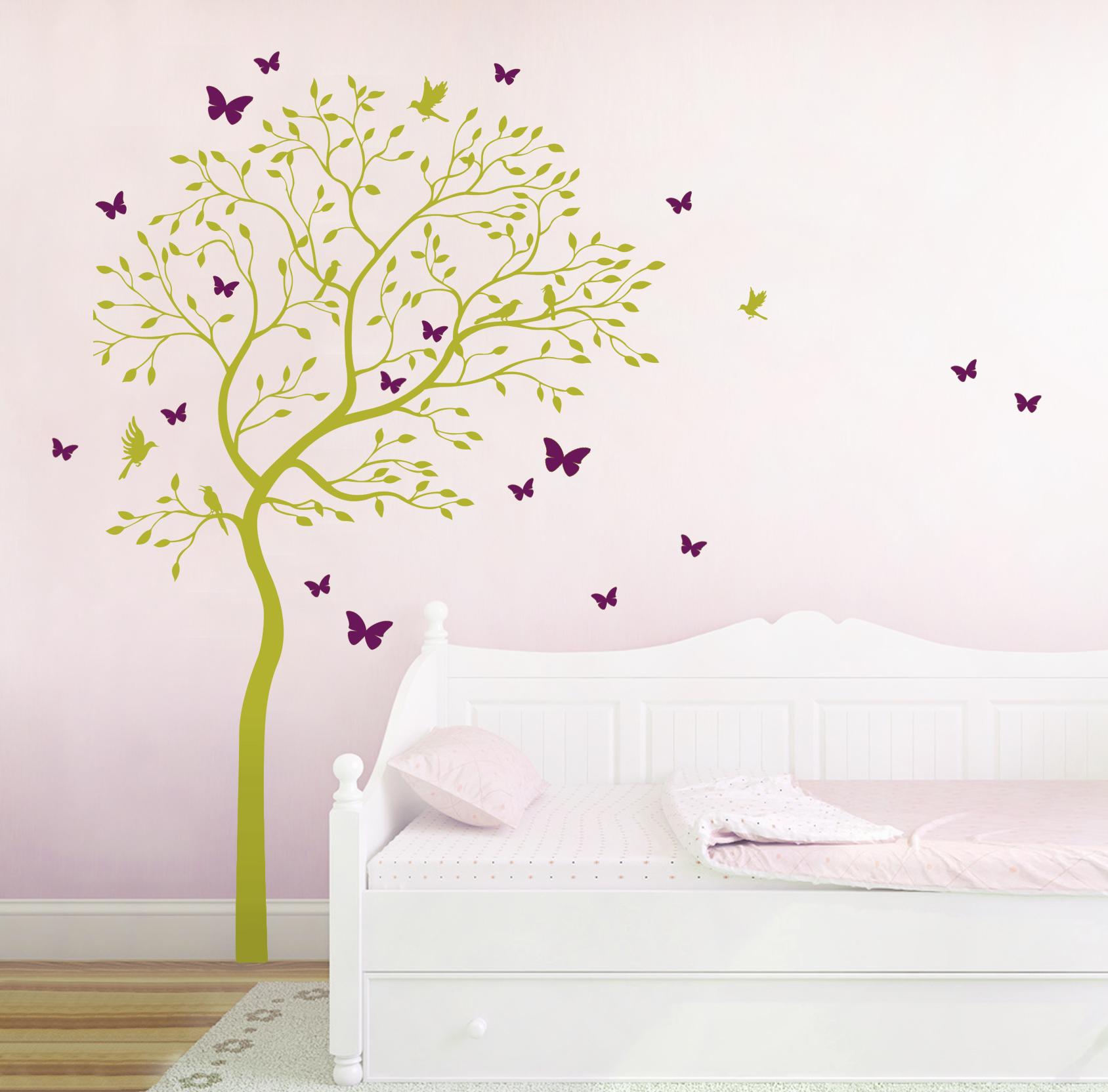 Wandtattoo Kinderzimmer Mädchen Schmetterlinge   Luxus Wandtattoo ...