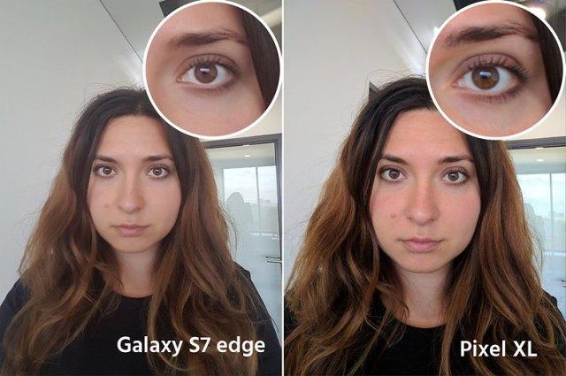 AndroidPIt google pixel XL vs samsung galaxy s7 edge selfie