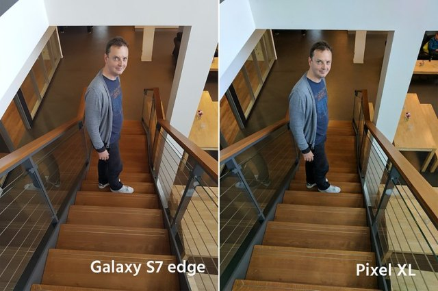 AndroidPIt google pixel XL vs samsung galaxy s7 edge
