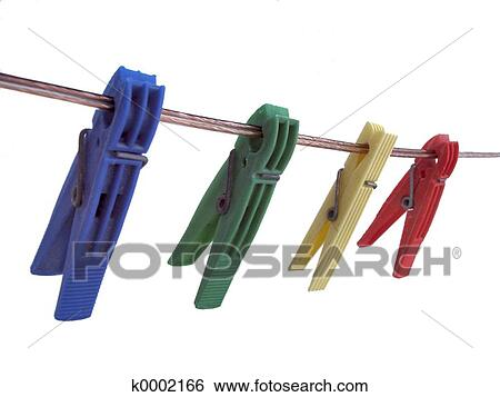Stock Images Of Clothes Pegs K0002166 Search Stock