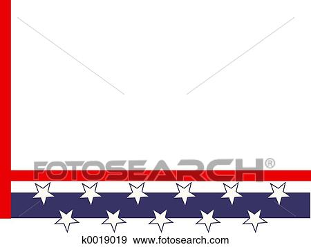 Stock Illustration of Patriotic Border k0019019 - Search Vector