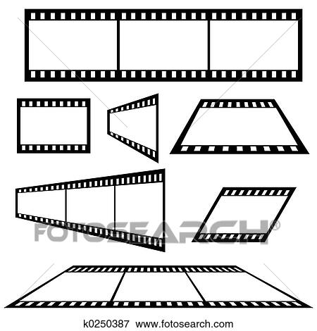 Stock Illustration of Film Strip k0250387 - Search EPS Clipart
