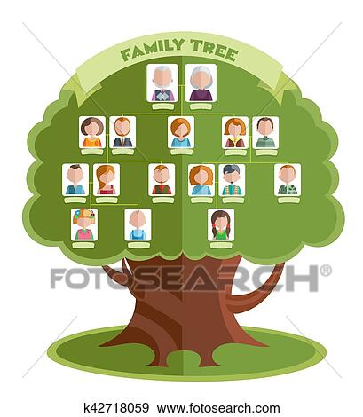 Clip Art of Family Tree Template k42718059 - Search Clipart