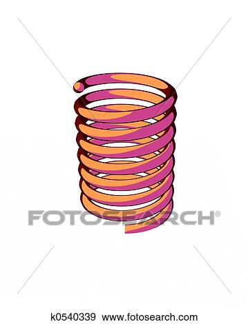 Stock Illustration of cartoon spring k0540339 - Search Vector