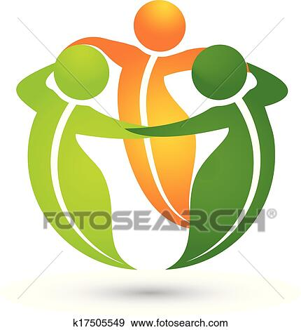 Clip Art of Team healthy leafs apps logo k17505549 - Search Clipart - apps symbol