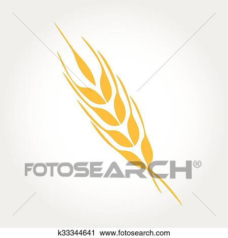 Clipart of Natural product logo design vector template Ears of - wheat template