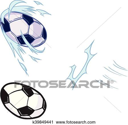 Clipart of Vector Soccer Ball Kicked Template k39849441 - Search