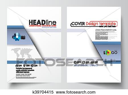 Clipart of Business templates for brochure, magazine, flyer, booklet