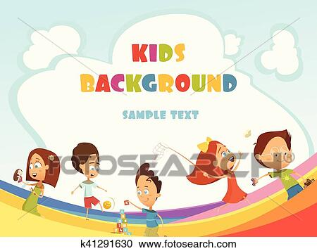 Playing Kids Background Clipart