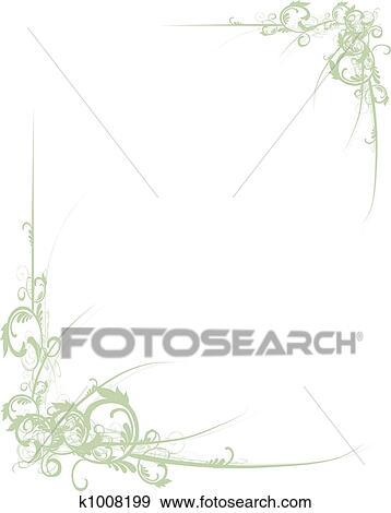 Stock Illustration of Scroll Border Green k1008199 - Search Vector