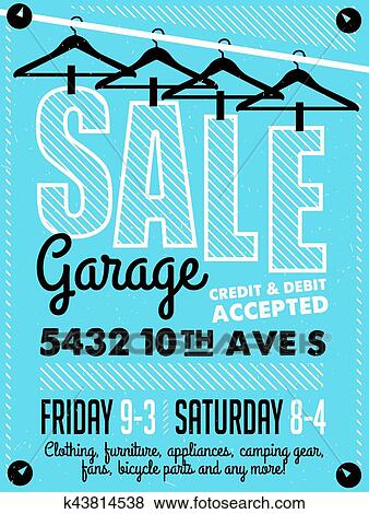 Clip Art of Garage Sale Poster k43814538 - Search Clipart
