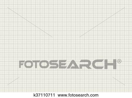 Clipart of Gray color graph paper on a4 sheet size k37110711