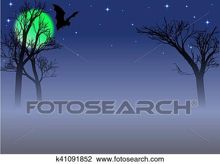 Clipart of spooky background k41091852 - Search Clip Art