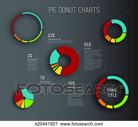 Clip Art of Vector Donut pie chart templates k20441927 - Search - pie chart templates