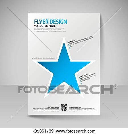 Clip Art of Business brochure Editable A4 poster for design cover
