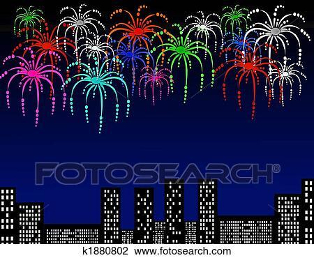 Clipart - feliz ano novo, fundo, cartão postal k1880802 - Busca de