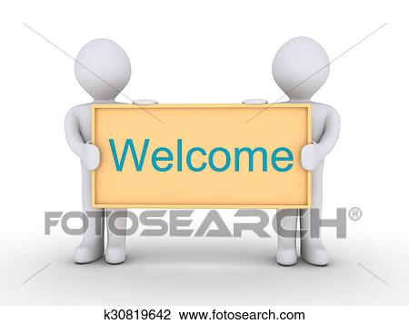 Clip Art of Welcome message k30819642 - Search Clipart, Illustration