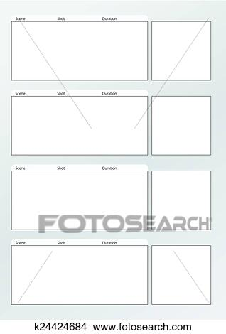 Clipart - película, storyboard, modelo, vertical, x4 k24424684 - vertical storyboard