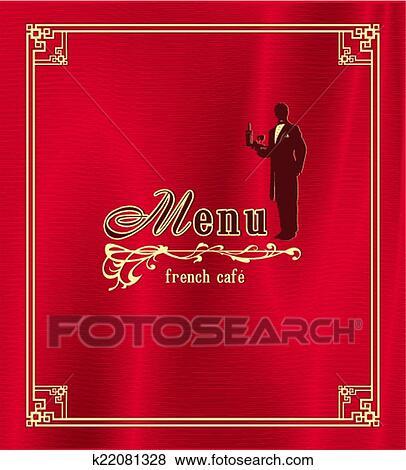 Clip Art of Trendy restaurant menu background to any creative modern