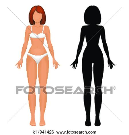 Female body template Clip Art k17941426
