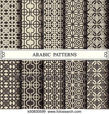 Clip Art of arabic vector pattern, web page background,surface