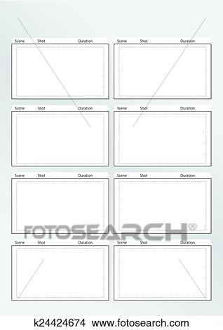 Clipart - storyboard, modelo, vertical, x8 k24424674 - Busca de - vertical storyboard