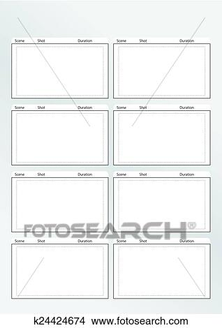 Clipart of storyboard template vertical x8 k24424674 - Search Clip