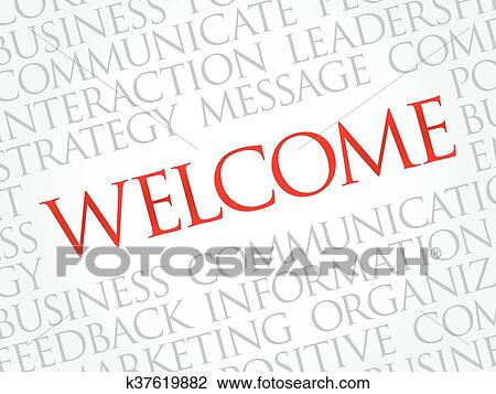 Clipart of WELCOME word cloud k37619882 - Search Clip Art